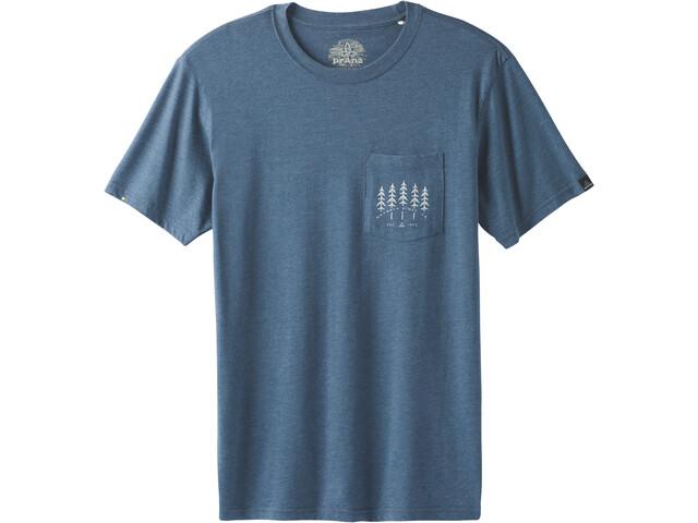 Prana Hollis Pocket Kurzarm T-Shirt Herren denim heather